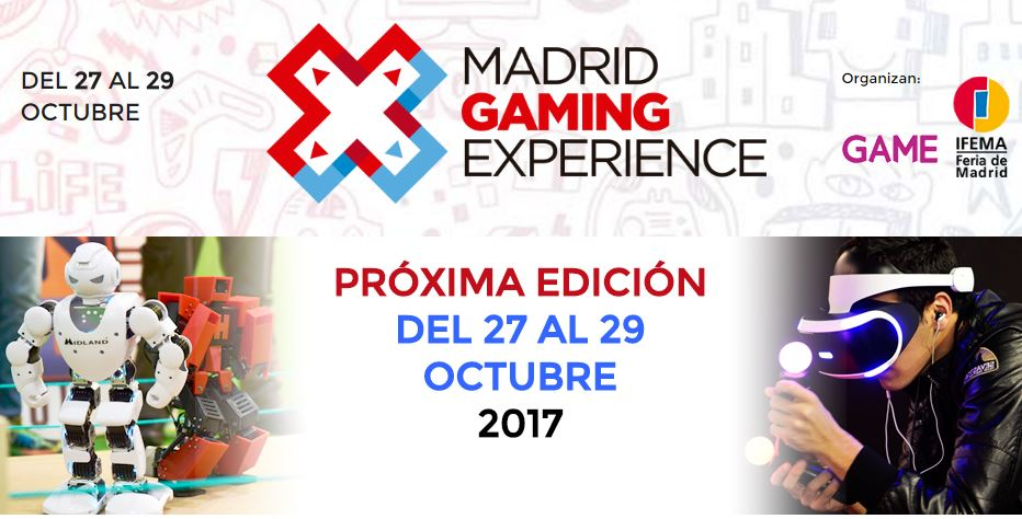 Proximo evento Madrid Gaming Experience